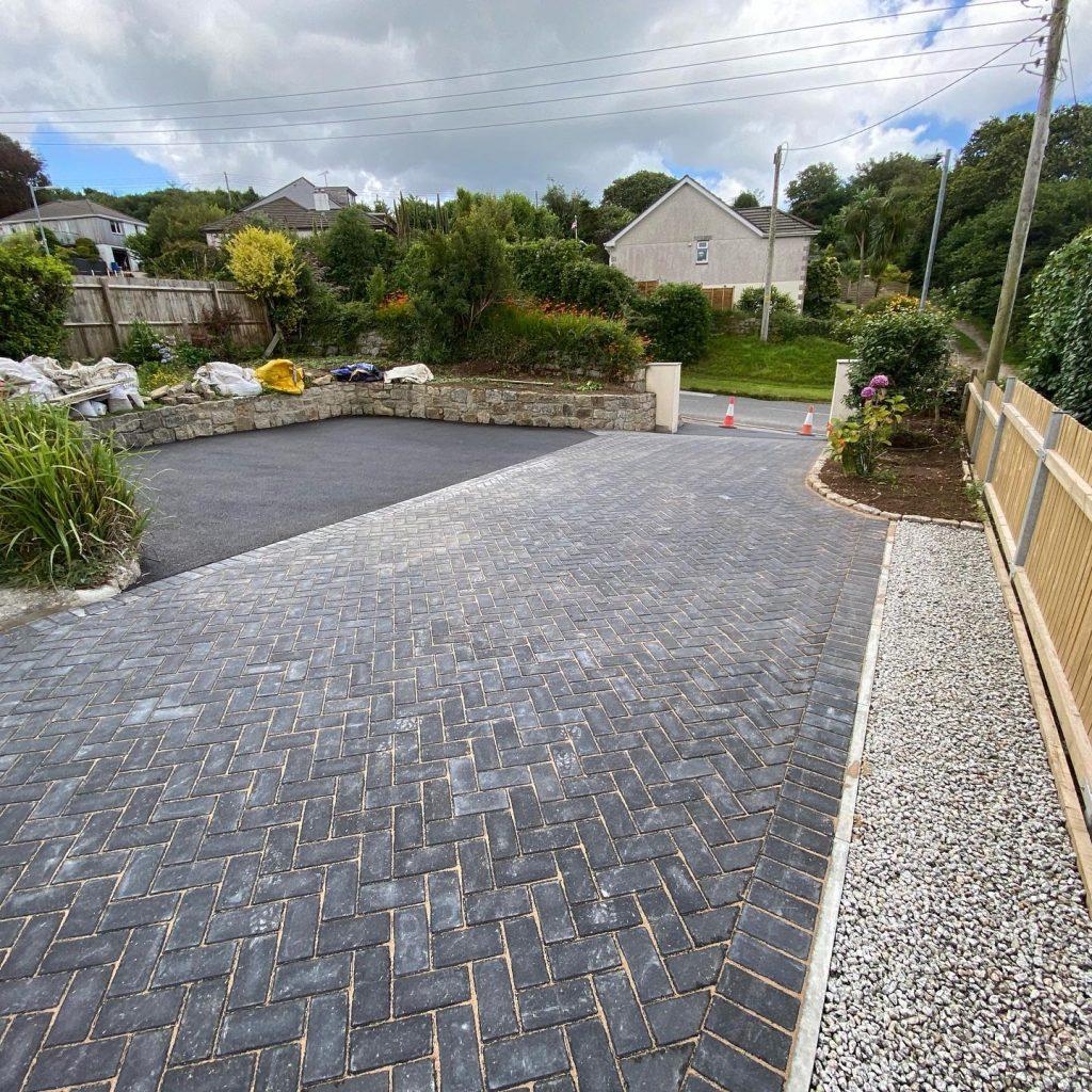 Block Paving & Tarmac Driveway in Falmouth, Cornwall