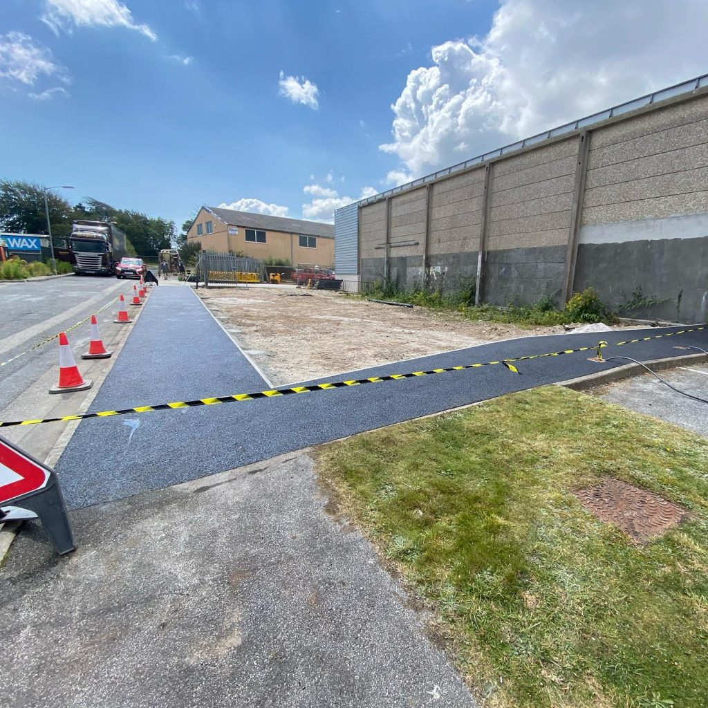 Commercial Footpath in Falmouth, Cornwall